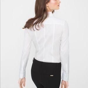 White House Black Market button up blouse